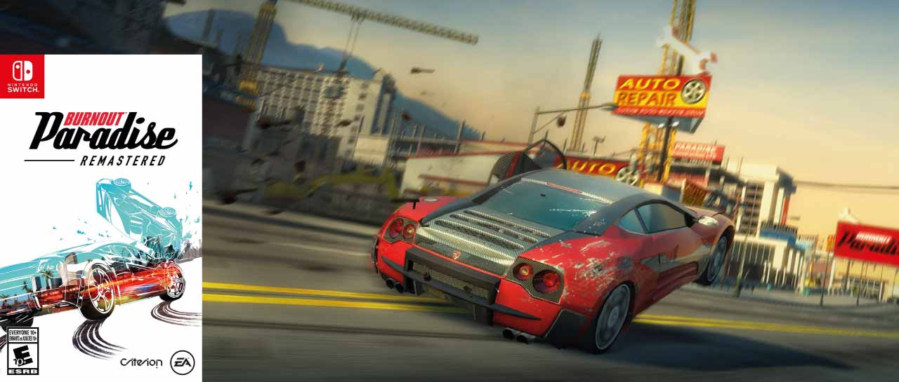 BURNOUT PARADISE REMASTERED 🎮 SWITCH ROM NSP