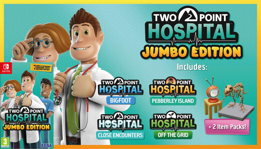 TWO POINT HOSPITAL JUMBO EDITION SWITCH ROM 🎮