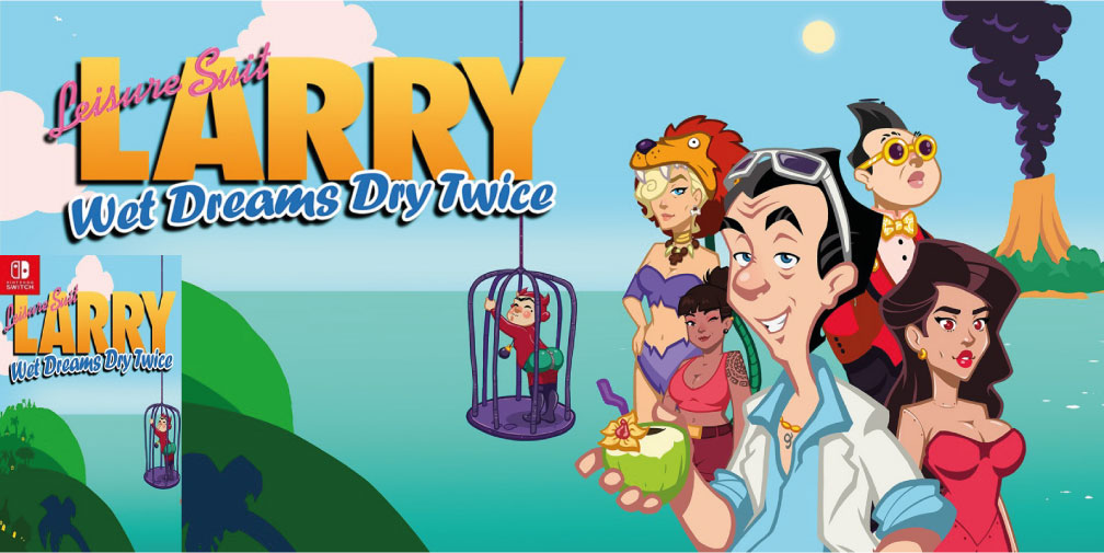 LEISURE SUIT LARRY WET DREAMS DRY TWICE SWITCH ROM 🎮